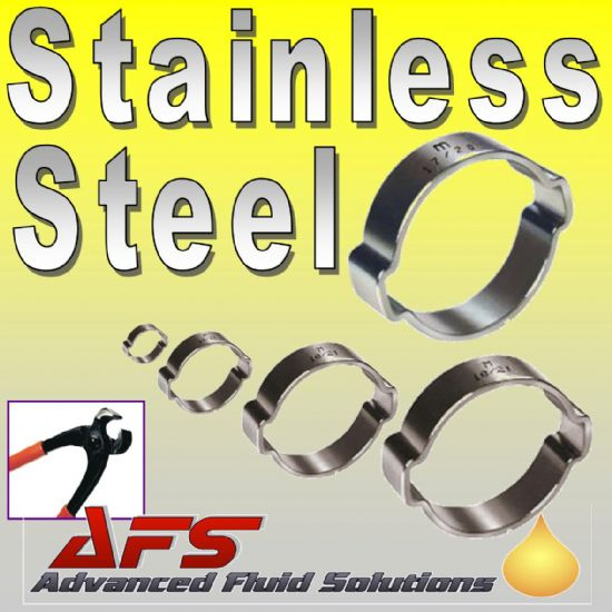 2 EAR STAINLESS STEEL O CLIPS